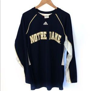 Adidas men's Notre Dame Long sleeve shirt Large